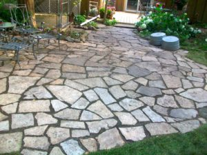 Backyard Patio Stone Boise